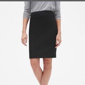 Classic Black Bi-Stretch Tailored Pencil Skirt